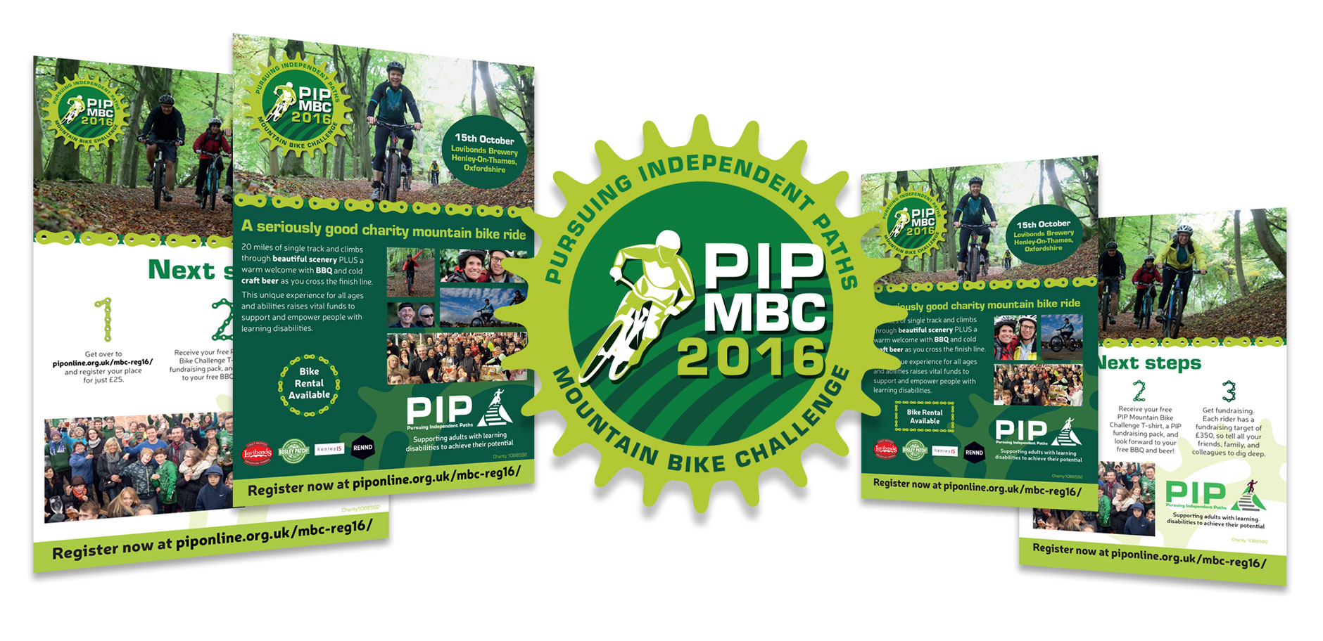 Charity mountain bike ride poster