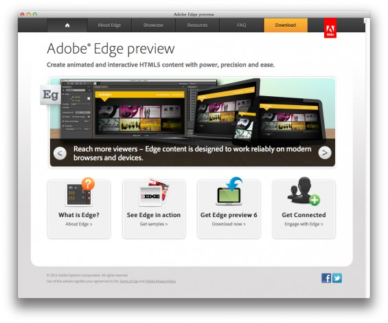 Adobe Edge Website