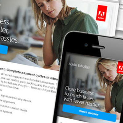 Adobe campaign emails and landing pages