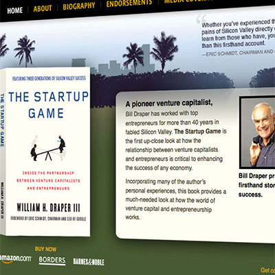 """The Startup Game"" Book Website"