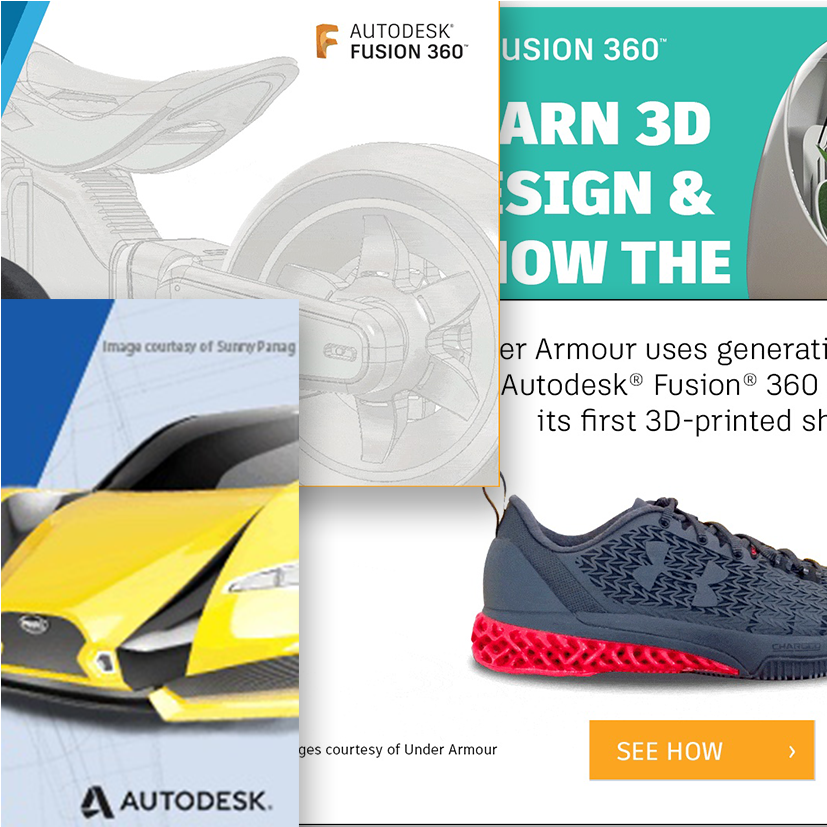 Animated web banners for Autodesk Education