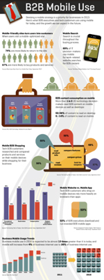 B2B  Mobile Use Infographic