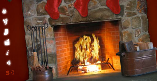 Weather getting colder? Get a virtual fireplace!