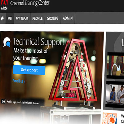 Customization of Adobe online training site