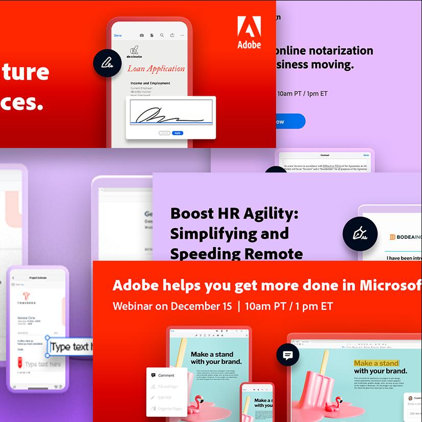 Adobe Document Cloud Webinar Series