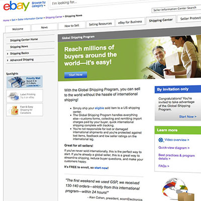 eBay Global Shipping Program