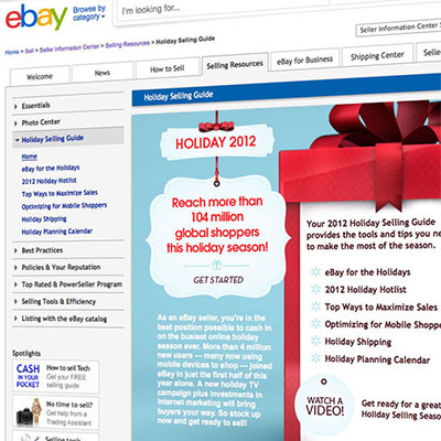 eBay holiday microsite