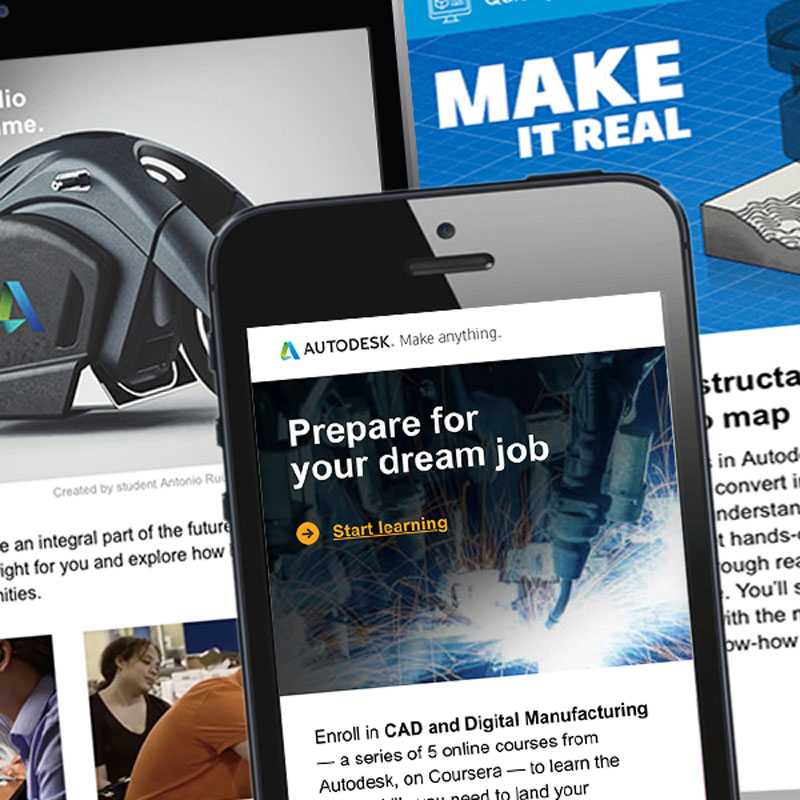 Autodesk emails to higher education students