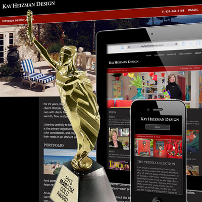 MarCom awards for mobile-friendly website