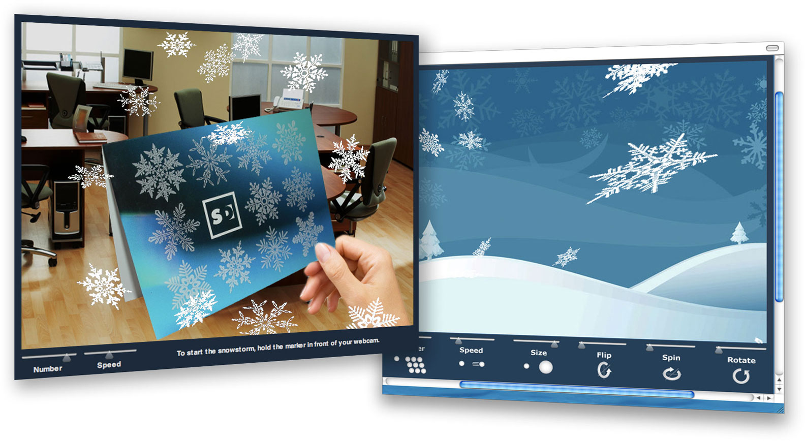 holiday web app AR