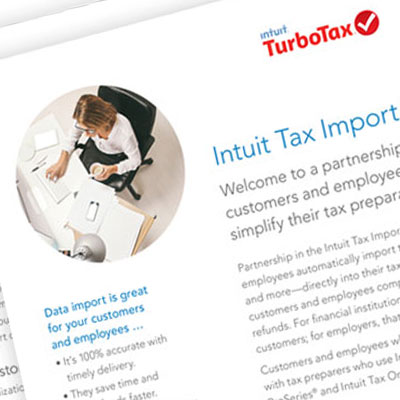 Intuit product marketing materials