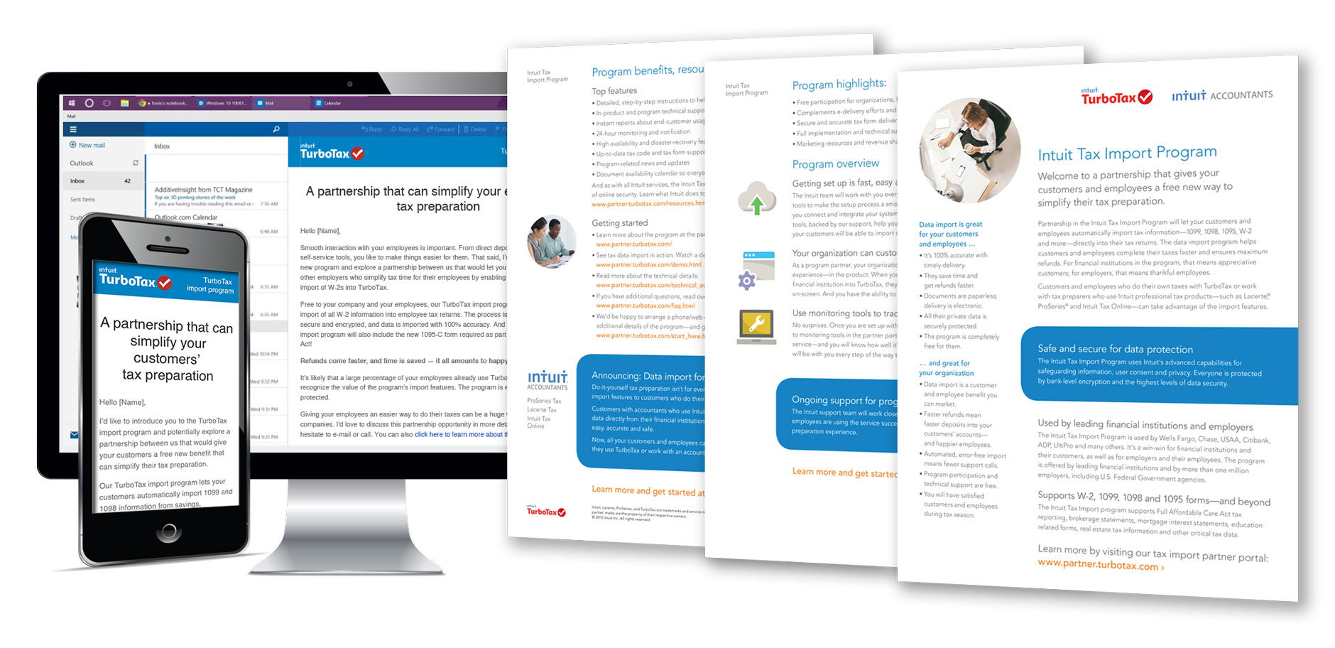 B2B emails and brochure