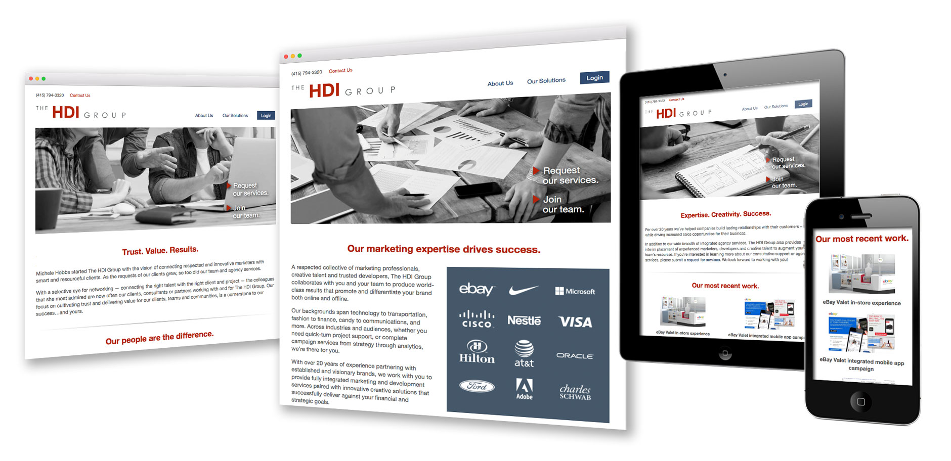 Website for marketing firm