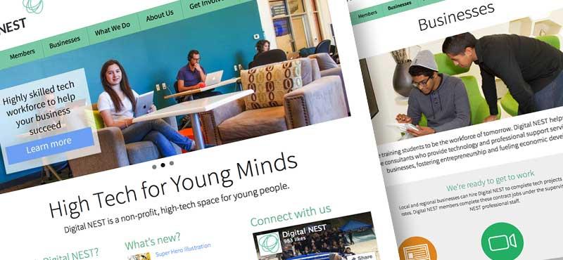 Non-profit education organization website redesign