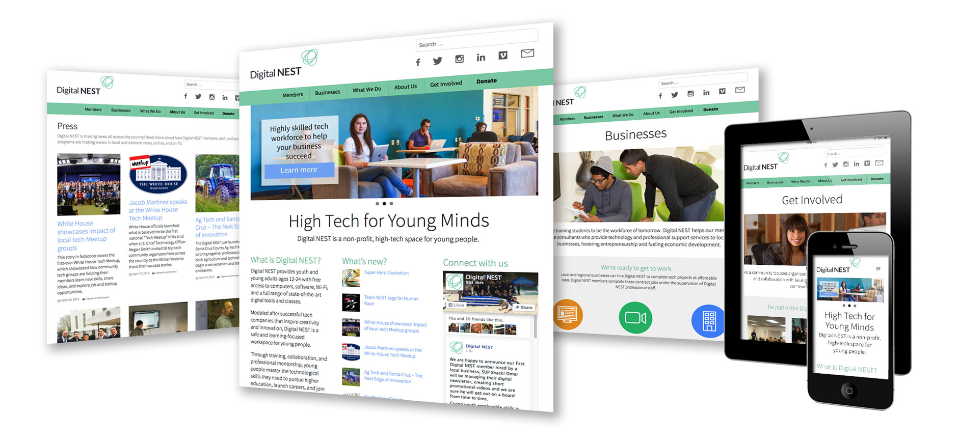 Non-profit education organization website redesign