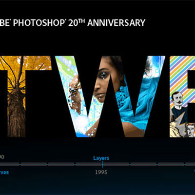 Photoshop 20th Anniversary Microsite
