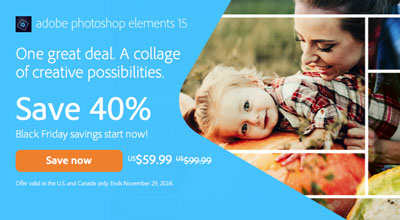 Photoshop Elements In-Product Welcome Screen