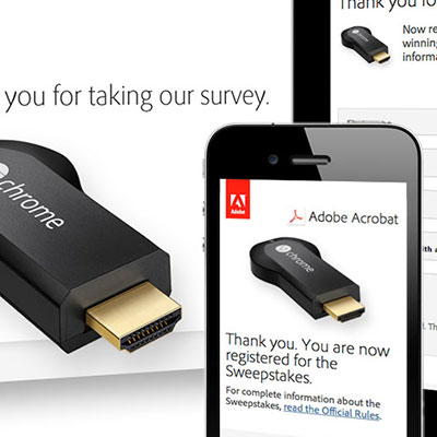 Email and landing page to promote Adobe survey