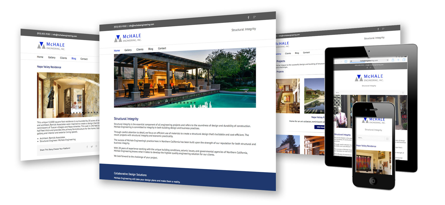 responsive website for architect construction engineer