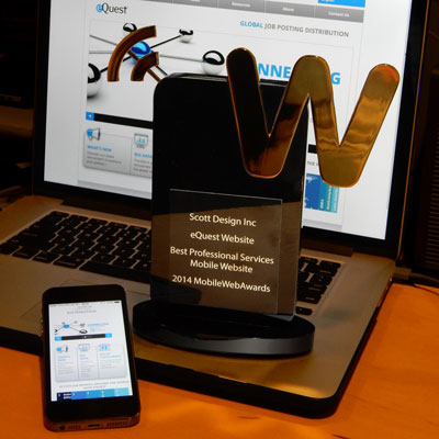 Four web and mobile awards for responsive B2B site