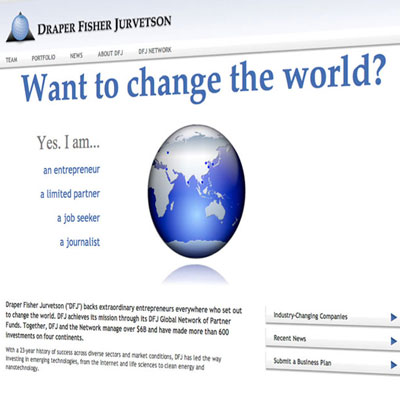 DFJ Venture Capital Website