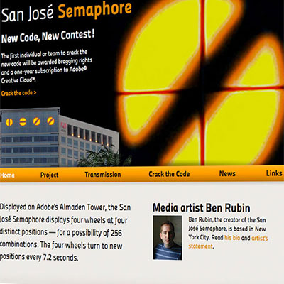 San Jose Semaphore website for Adobe